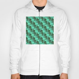 Stacked Emerald Jade Bolts Exotic Pattern Hoody