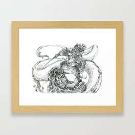 The Blacksmith searches for the Grass cutter sword Framed Art Print