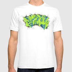 Vecta Wall Smash Mens Fitted Tee MEDIUM White