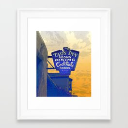 Taos Inn Sign  Framed Art Print