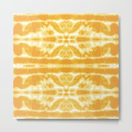 Yellow Tie Dye Twos Metal Print