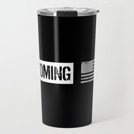 US Flag: Wyoming Travel Mug