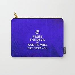 Resist the Devil - Bible Lock Screens Carry-All Pouch