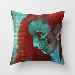 THE GOD WHO GAVE IT (Ecclesiastes 12:7) Throw Pillow