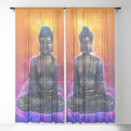 Buddha Art Sheer Curtain