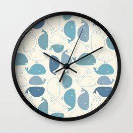 Fish textile pattern Wall Clock