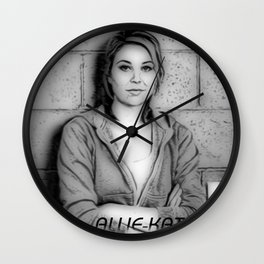 Allie-Kat Wall Clock