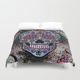 Crazy Skull  Duvet Cover