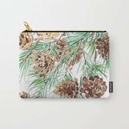 pine cones watercolor Carry-All Pouch