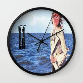 Mona Lisa on Vacation Wall Clock
