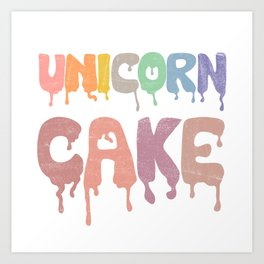 Unicorn Cake Art Print