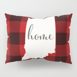 Indiana is Home - Buffalo Check Plaid Pillow Sham