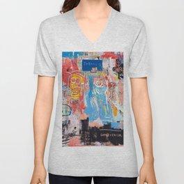 Basquiat Style 2 Unisex V-Neck