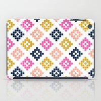 coachella iPad Cases featuring Southwest - native aztec geometric pattern print desert tribe festival clothes coachella  by CharlotteWinter