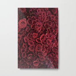 Flower Market 3 - Red Roses Metal Print