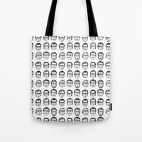 boyfriend Tote Bags featuring The Boyfriend by Anna Cannuzz