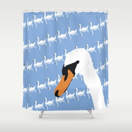 The Swan Gallery Giftshop Shower Curtain
