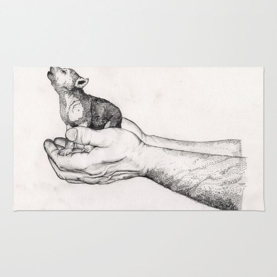 Wolf Cub // Graphite Rug