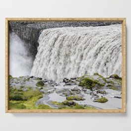Dettifoss Waterfall in Northern Iceland Serving Tray