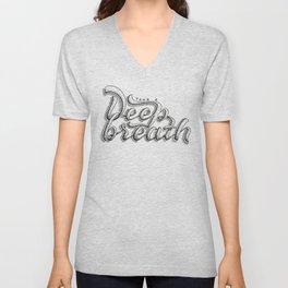 Take a deeep breath - hand lettering sketch Unisex V-Neck