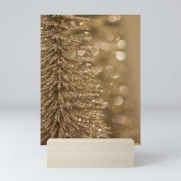 Golden Christmas Glitter Tree Decoration Mini Art Print
