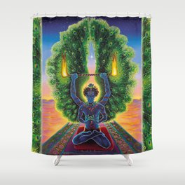 Melek Ta'us (The Peacock Angel) Shower Curtain