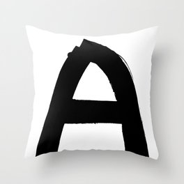 The last letter Throw Pillow