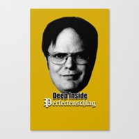 dwight Canvas Prints featuring Dwight - Perfectenschlag by Thomas Rolfe