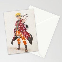 Typography Art of Naruto Uzumaki Stationery Cards