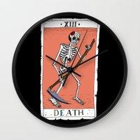 tarot Wall Clocks featuring Tarot Card by BlandinePannequin