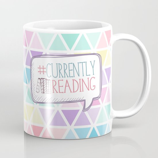 #Currently Reading Pastel Triangle  Mug
