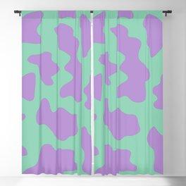 Abstract Animal Print - Aqua and Purple Blackout Curtain
