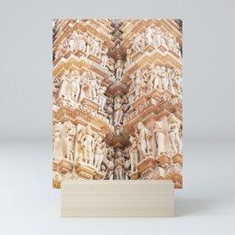 400. Erotic Temple, Khajurâho, India Mini Art Print