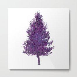 pear tree, strings on white Metal Print