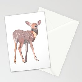 Baby Deer Art Stationery Cards