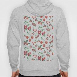 Watercolor Strawberries Hoody