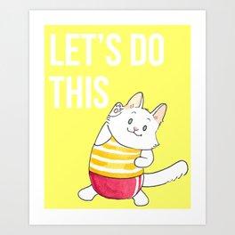 Lupin Motivational Poster Art Print