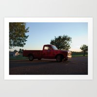 truck Art Prints featuring Truck by Bex Finch