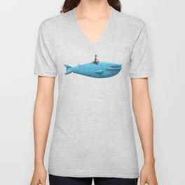 Whale Rider  Unisex V-Neck