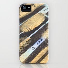 Gold & Black iPhone Case