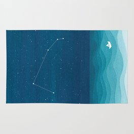 Aries zodiac constellation Rug