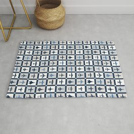 Quilt Squares Air Force Aircraft Rug
