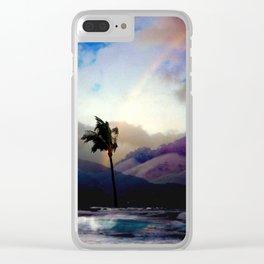 Kona Hawaii Rainbow Clear iPhone Case