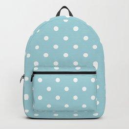 White Polkadot Spots on Wedding Garter Bue Backpack