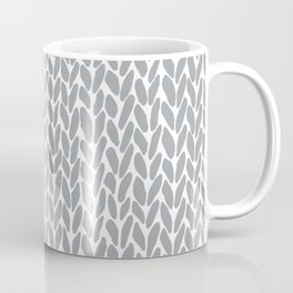 Hand Knit Zoom Grey Coffee Mug