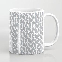 Hand Knit Zoom Grey Coffee Mug