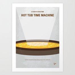 No612 My Hot Tub Time Machine minimal movie poster Art Print