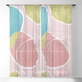 Abstract - Happy Day Sheer Curtain