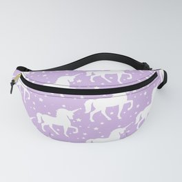 Purple Unicorn and Stars Pattern Fanny Pack