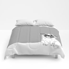 Pug Lineart Comforters